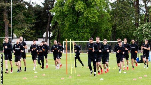 Dundee United train at St Andrews