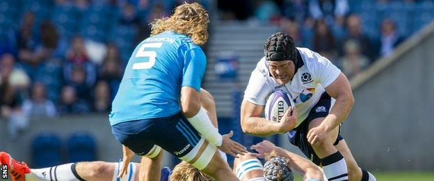 WP Nel playing for Scotland against Italy