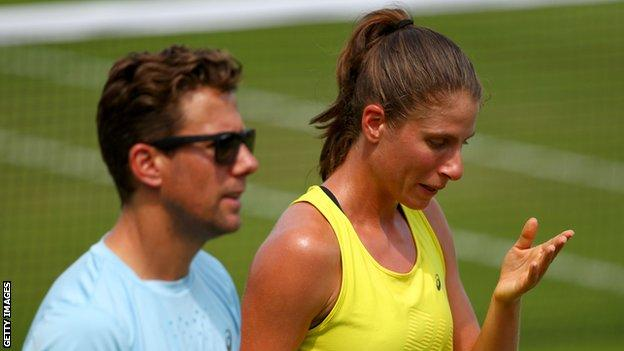 Wim Fissette and Johanna Konta