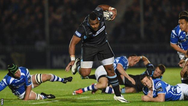 Taqele Naiyaravoro carries strongly