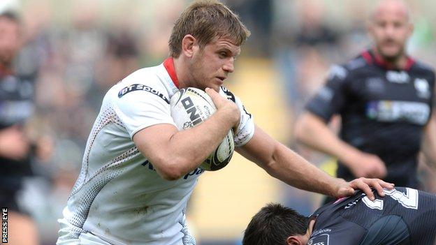 Chris Henry made his Ulster debut against Harlequins in 2009