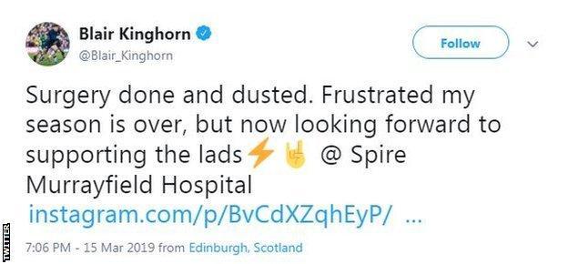 Blair Kinghorn tweet