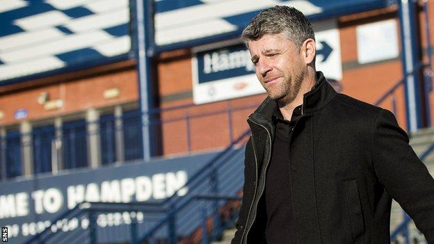 Motherwell manager Stephen Robinson leaves Hampden