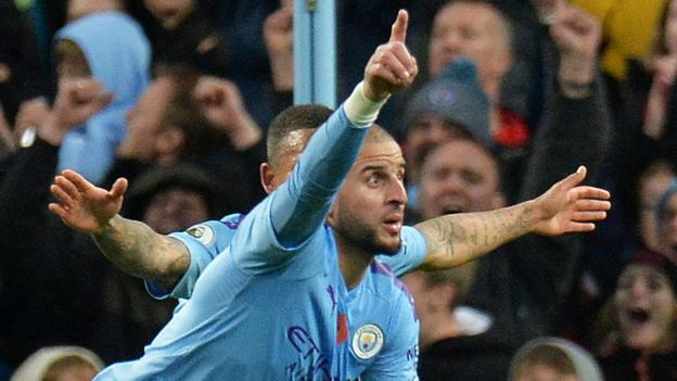 Manchester City 2-1 Southampton: Kyle Walker wins it late for champions thumbnail