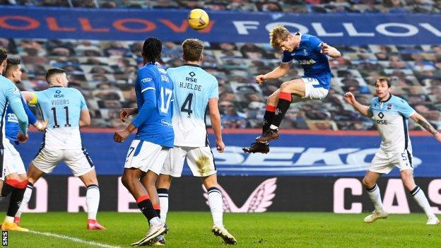 Rangers' Filip Helander scores