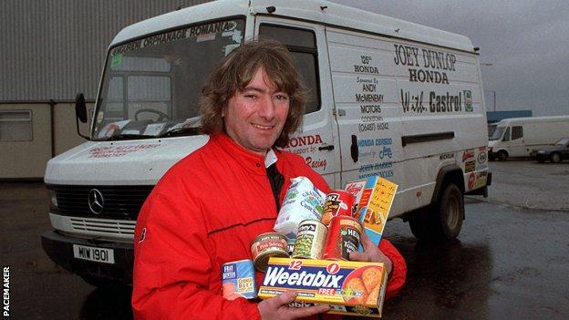Joey in 1992 as he prepared to travel to Romania with his van full of food and clothes for the orphanage