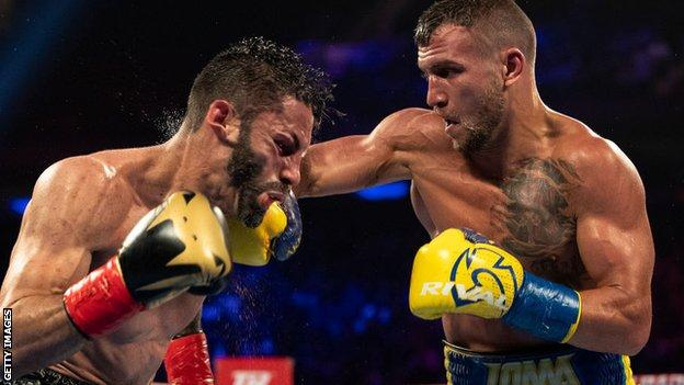 Lomachenko stopped Linares, who has won world titles in three weight divisions during his 16-year professional career