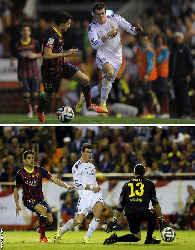 Gareth Bale's goal v Barcelona