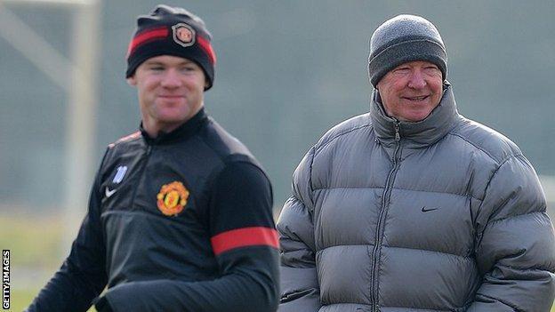 Wayne Rooney ve Sör Alex Ferguson