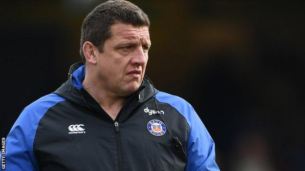 Toby Booth on the sidelines at Bath