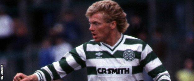 Maurice Johnston in action for Celtic