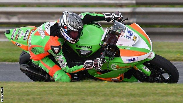 Andrew Irwin was on winning form in Supersport race one at Brands Hatch