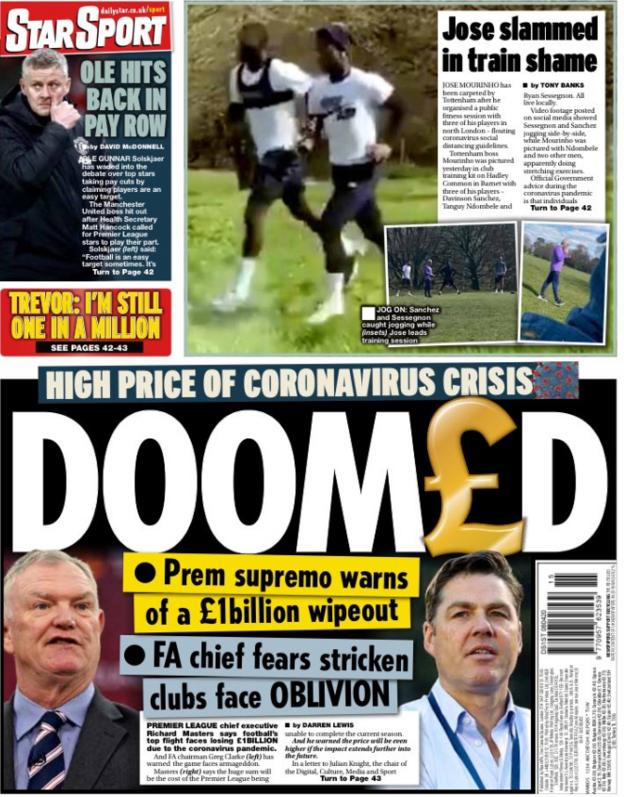 The Daily Star leads on warnings over threats to the future of some leagues and clubs