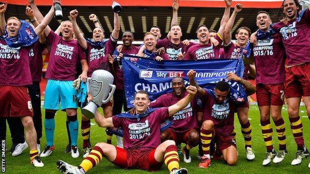 Burnley win Championship