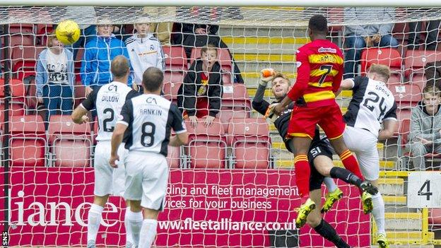 David Amoo headed Partick Thistle in front
