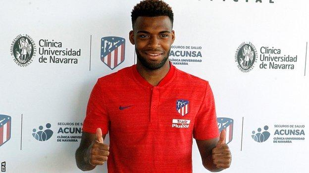 Thomas Lemar is unveiled at Atletico Madrid