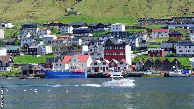 Klaksvik village