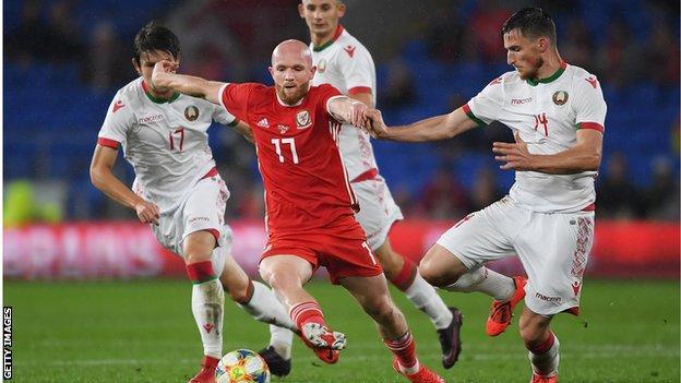 Midfielder Jonny Williams was Wales' creative fulcrum against Belarus