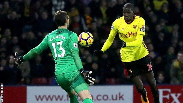 Watford's Abdoulaye Doucoure scores