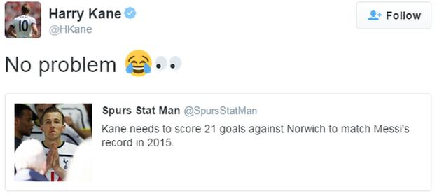 Harry Kane tweet