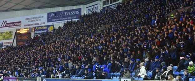 Kilmarnock fans at Rugby Park