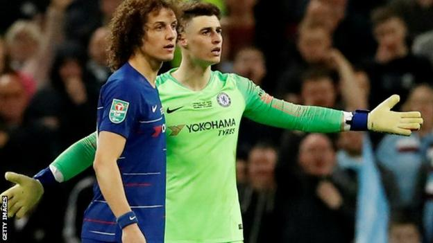 David Luiz and Kepa Arrizabalaga
