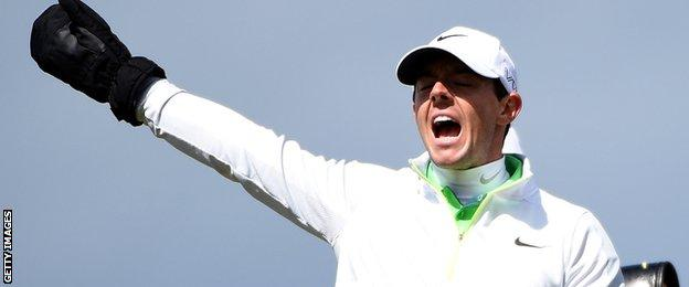 Rory McIlroy at the Royal County Down Golf Club where he missed the cut