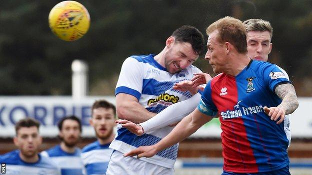 Carl Tremarco heads home Inverness' goal