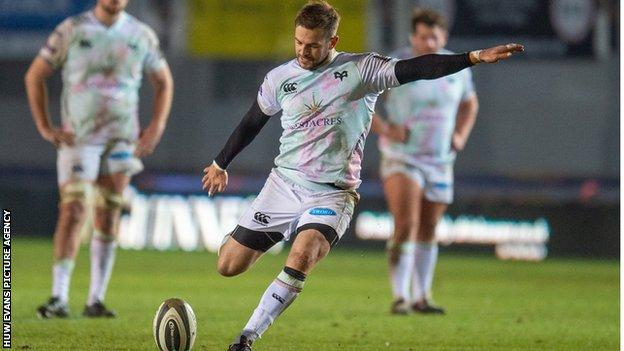 Fly-half Stephen Myler has scored 124 points in 12 games for Ospreys