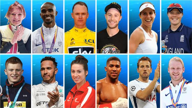 BBC Sports Personality of the Year 2017 contenders