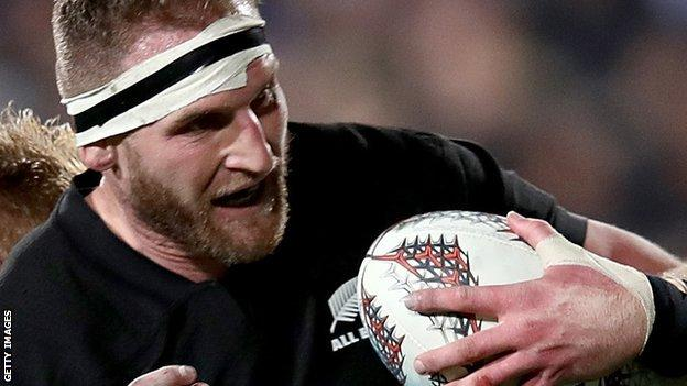 Kieran Read in action for New Zealand