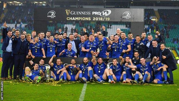 Leinster beat Glasgow in the 2019 Pro14 final