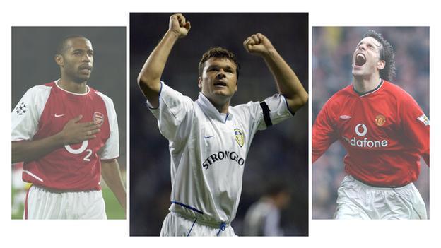 Thierry Henry, Mark Viduka and Ruud van Nistelrooy