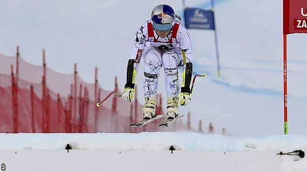 Lindsey Vonn goes airborne
