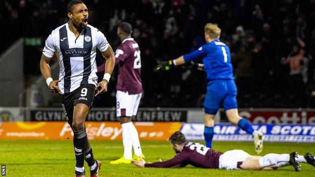 Jon Obika's winner for St Mirren against Hearts in March proved decisive in the relegation reckoning