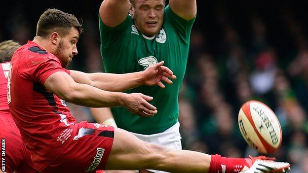 Scrum-half Rhys Webb has played 16 Tests for Wales and scored five tries
