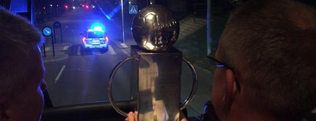Norrkoping return home with the league trophy