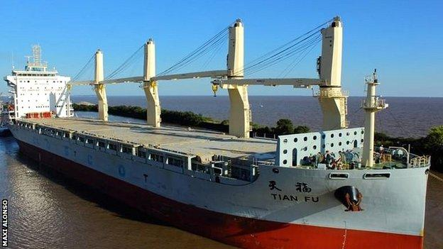 The Tian Fu will use one of its four cranes to lift Goodall to safety