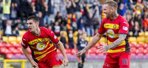 Kris Doolan's double looked to have secured three points for the Firhill side