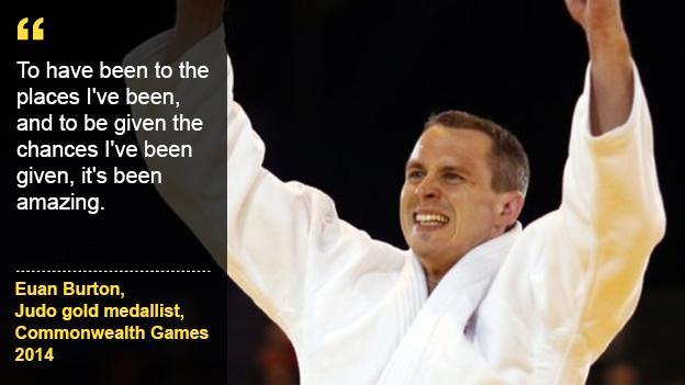 Aspire to be Commonwealth gold medallist Euan Burton.