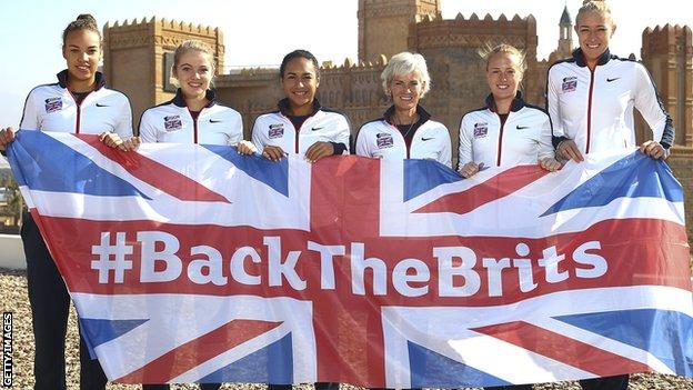 GB's Fed Cup squad