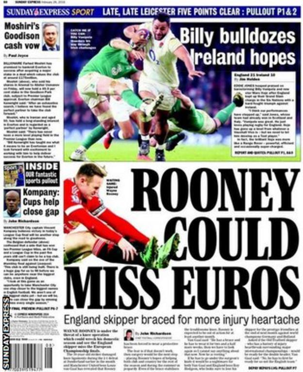 Sunday Express back page