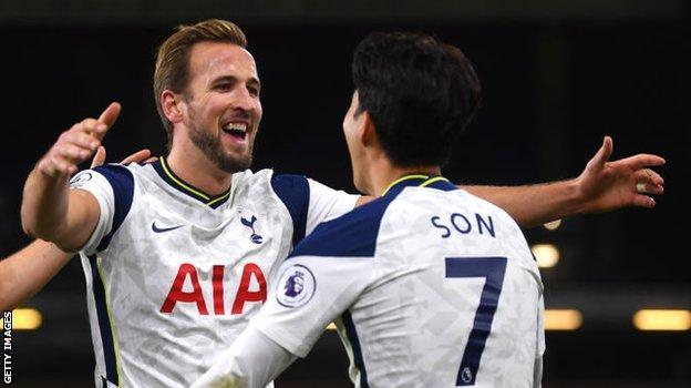 Tottenham forvet oyuncusu Harry Kane ve Son Heung-min