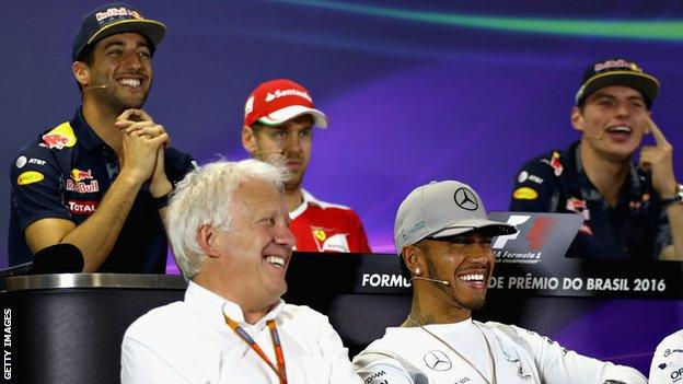 Charlie Whiting and F1 drivers