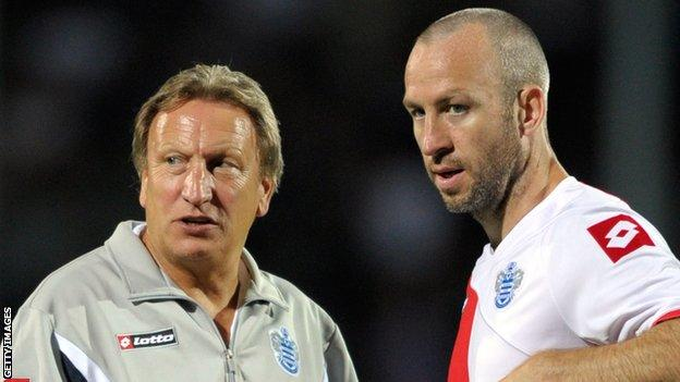 Shaun Derry (right) with Neil Warnock