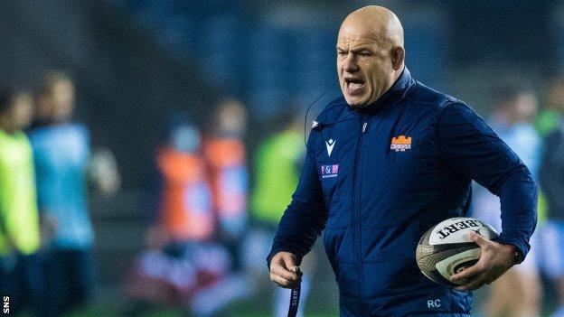 Edinburgh head coach Richard Cockerill