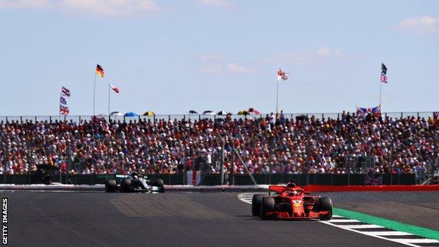 Lewis Hamilton and Sebastian at the British Grand Prix at Silverstone