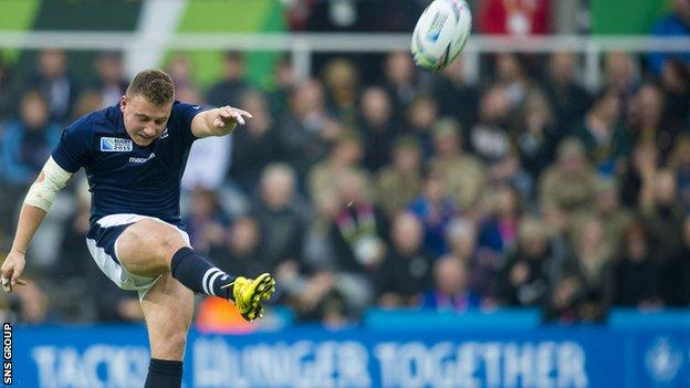Duncan Weir is in the Scotland squad for this year's Six Nations