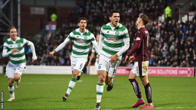 Celtic visit Hearts on Saturday