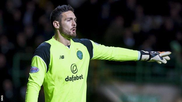 Celtic goalkeeper Craig Gordon
